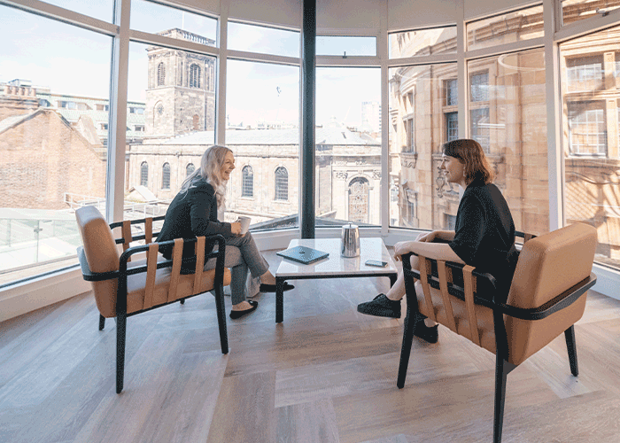 Unique meeting room overlooking St Ann's square